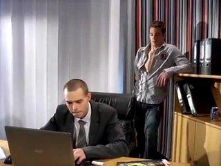 Gay office hot