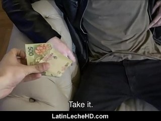 Spanish Latino Cab Driver Paid Cash By Stranger For Amateur Fucking On Camera POV