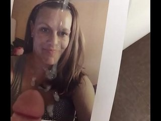 Cum on my face TRIBUTE for HOT Tampa Milf in public bathroom CAUGHT