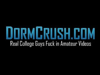 College cock suckers give head and wank their dicks together