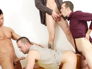 GAYWIRE - This Casting Session Turns Into A Full Blown Bareback Orgy!