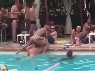 Gay public pool party
