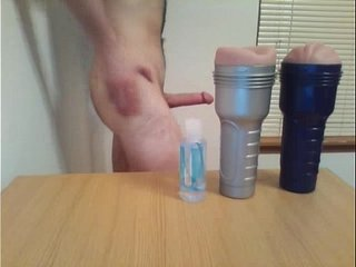 Fleshlight orgy ends with moaning internal cumshot