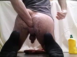 hairyfilth24's - Young hairy guy self fisting and punching