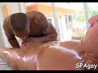 Wild interracial massage